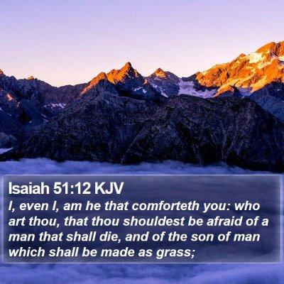 Isaiah 51:12 KJV Bible Verse Image