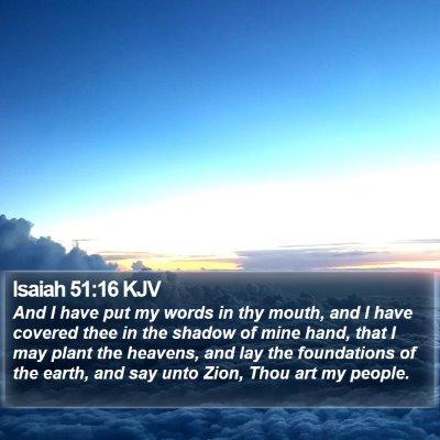 Isaiah 51:16 KJV Bible Verse Image