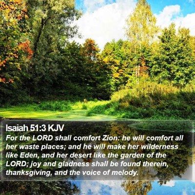 Isaiah 51:3 KJV Bible Verse Image