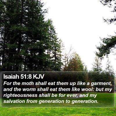 Isaiah 51:8 KJV Bible Verse Image