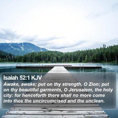 Isaiah 52:1 KJV Bible Verse Image