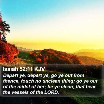 Isaiah 52:11 KJV Bible Verse Image