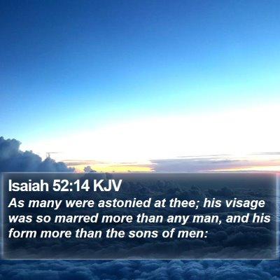 Isaiah 52:14 KJV Bible Verse Image