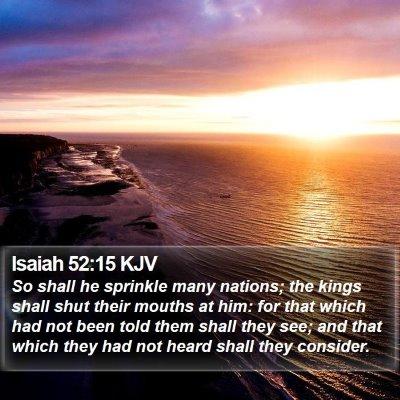 Isaiah 52:15 KJV Bible Verse Image