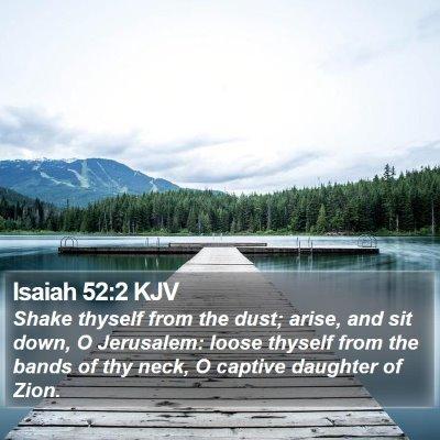 Isaiah 52:2 KJV Bible Verse Image