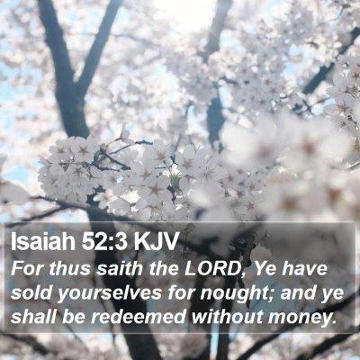 Isaiah 52:3 KJV Bible Verse Image