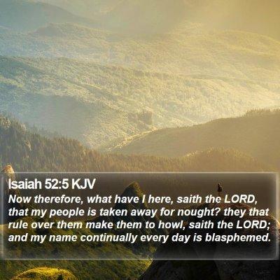 Isaiah 52:5 KJV Bible Verse Image