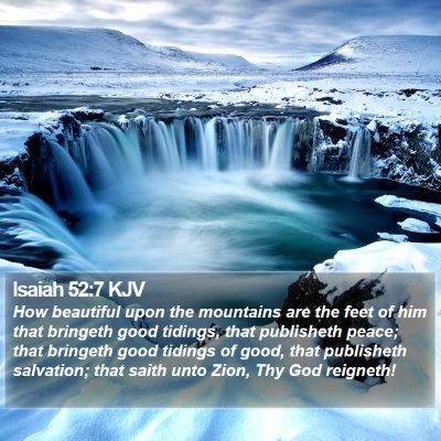 Isaiah 52:7 KJV Bible Verse Image
