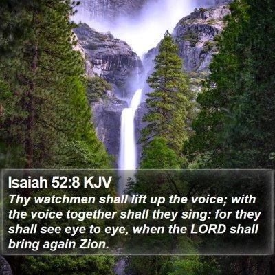 Isaiah 52:8 KJV Bible Verse Image