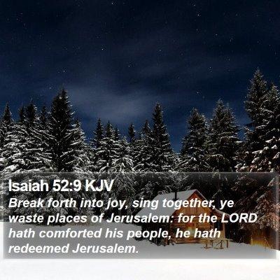 Isaiah 52:9 KJV Bible Verse Image