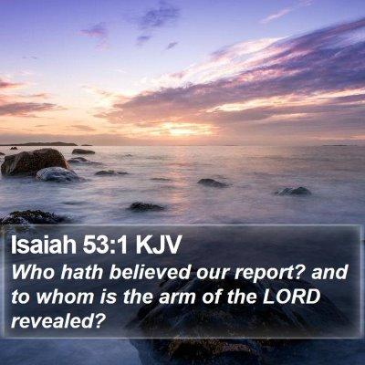 Isaiah 53:1 KJV Bible Verse Image