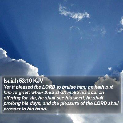Isaiah 53:10 KJV Bible Verse Image