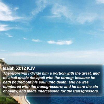 Isaiah 53:12 KJV Bible Verse Image