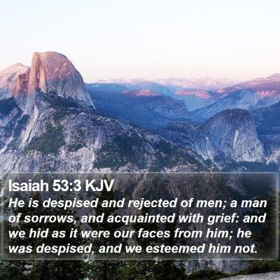 Isaiah 53:3 KJV Bible Verse Image