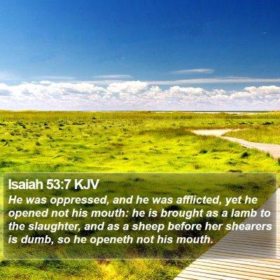Isaiah 53:7 KJV Bible Verse Image