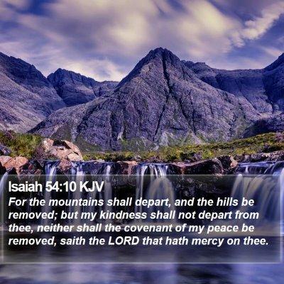 Isaiah 54:10 KJV Bible Verse Image