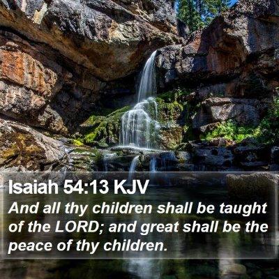 Isaiah 54:13 KJV Bible Verse Image