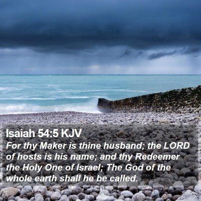 Isaiah 54:5 KJV Bible Verse Image