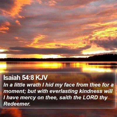Isaiah 54:8 KJV Bible Verse Image