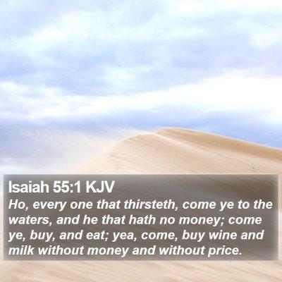 Isaiah 55:1 KJV Bible Verse Image