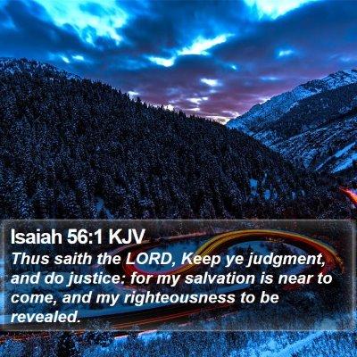 Isaiah 56:1 KJV Bible Verse Image