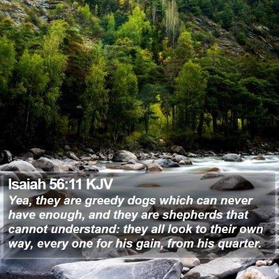Isaiah 56:11 KJV Bible Verse Image