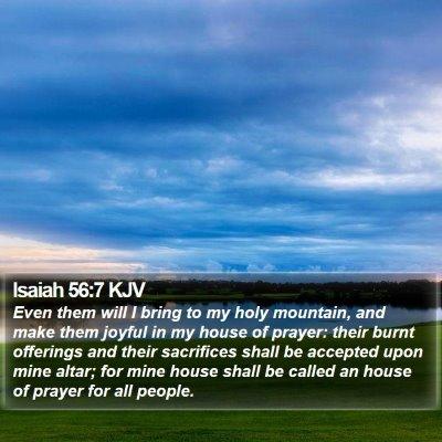 Isaiah 56:7 KJV Bible Verse Image