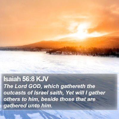 Isaiah 56:8 KJV Bible Verse Image