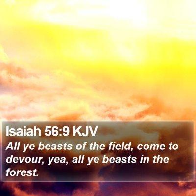 Isaiah 56:9 KJV Bible Verse Image
