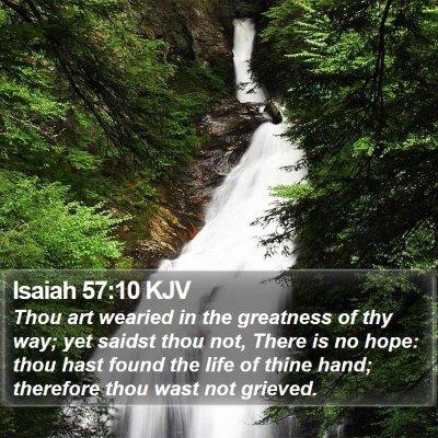 Isaiah 57:10 KJV Bible Verse Image