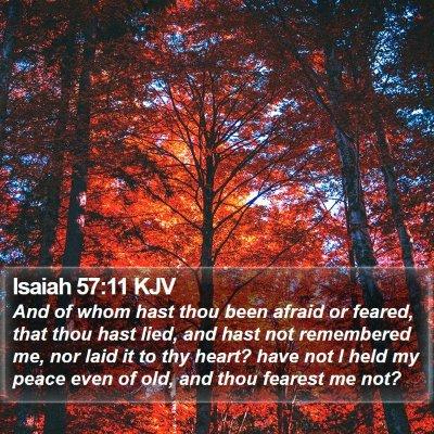 Isaiah 57:11 KJV Bible Verse Image