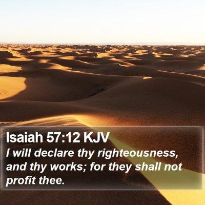 Isaiah 57:12 KJV Bible Verse Image