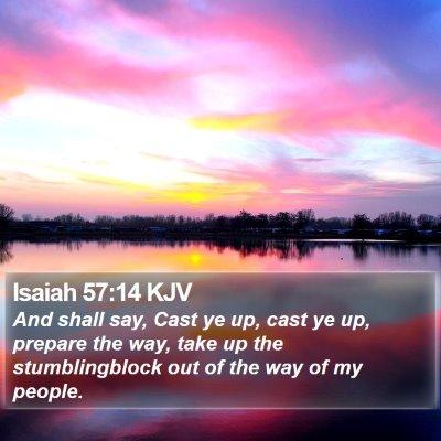 Isaiah 57:14 KJV Bible Verse Image