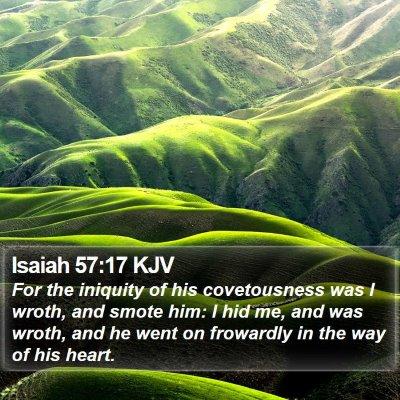 Isaiah 57:17 KJV Bible Verse Image