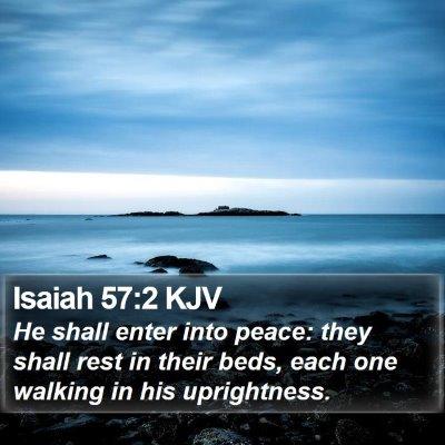 Isaiah 57:2 KJV Bible Verse Image