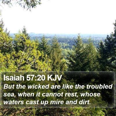 Isaiah 57:20 KJV Bible Verse Image