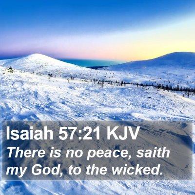 Isaiah 57:21 KJV Bible Verse Image