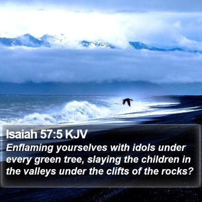 Isaiah 57:5 KJV Bible Verse Image