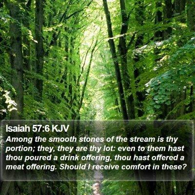 Isaiah 57:6 KJV Bible Verse Image