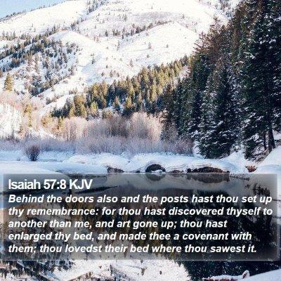 Isaiah 57:8 KJV Bible Verse Image