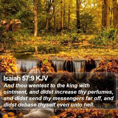 Isaiah 57:9 KJV Bible Verse Image