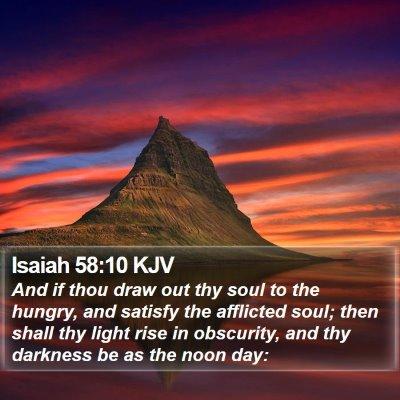 Isaiah 58:10 KJV Bible Verse Image