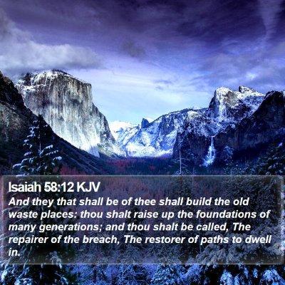Isaiah 58:12 KJV Bible Verse Image