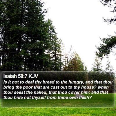 Isaiah 58:7 KJV Bible Verse Image