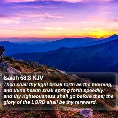 Isaiah 58:8 KJV Bible Verse Image