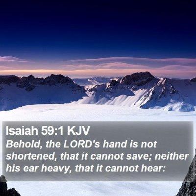 Isaiah 59:1 KJV Bible Verse Image