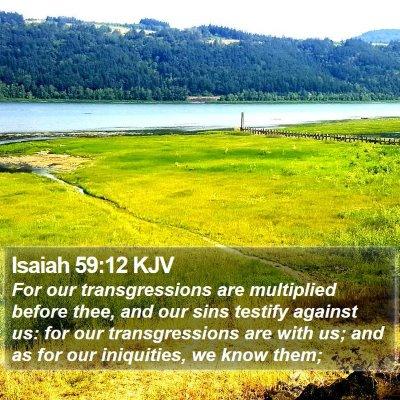 Isaiah 59:12 KJV Bible Verse Image