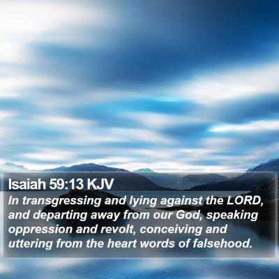 Isaiah 59:13 KJV Bible Verse Image