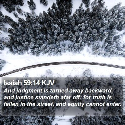 Isaiah 59:14 KJV Bible Verse Image