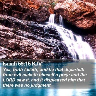 Isaiah 59:15 KJV Bible Verse Image